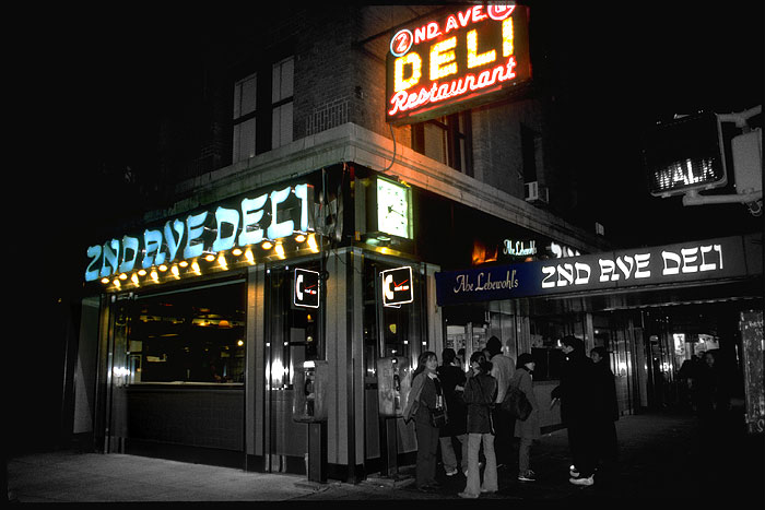 Ansicht des New Yorker Restaurants 2nd Ave Deli