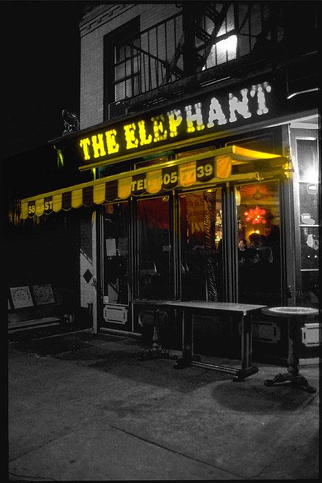 Ansicht des New Yorker Restaurants The Elephant