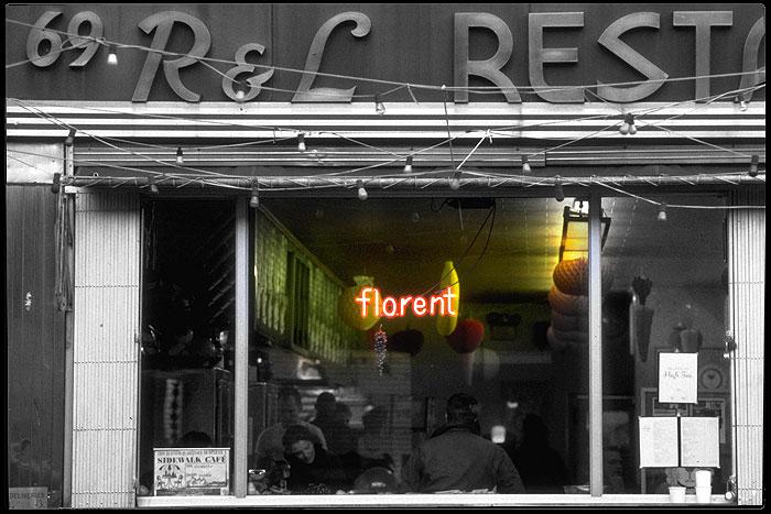 Ansicht des New Yorker Restaurants Florent