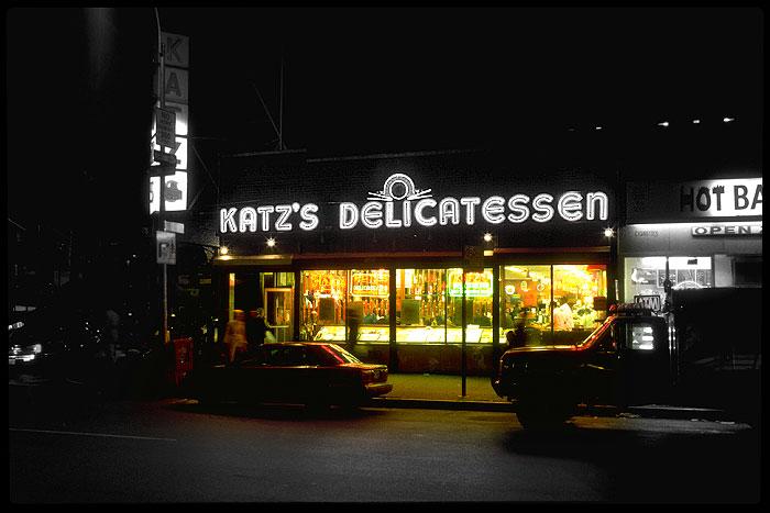 Ansicht des New Yorker Restaurants Katz's Deli