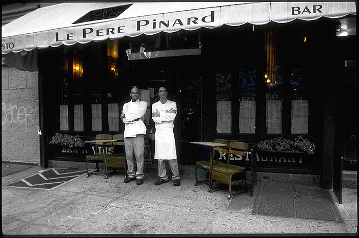 Ansicht des New Yorker Restaurants Le Pere Pinard